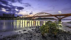 GuanDo Bridge | sunrise (KentFan) Tags: taipei newtaipeicity taiwan tw 關渡 關渡大橋 關渡宮 八里 淡水 夕陽 日出 渡船 淡水河