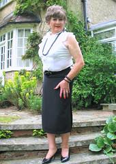 Marysteps-001 (fionaxxcd) Tags: cd tg ts ladyboy drag femmeboi mtf m2f transvestite tranny trannie crossdresser crossdressing xdresser xdressing longskirt bust breact nipples stilettos updo necklace