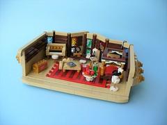 Captain Hook's Cabin (LeahG16) Tags: peter pan ship lego cabin captain hook