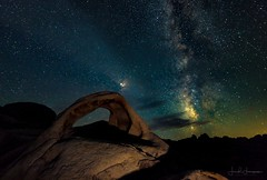 Heavenly visitation*~ (swazileigh/ Langman Lightscapes) Tags: milkyway milkywayseason northernhemisphere mars planet shootingstar arch rock scorpioconstellation nightsky stars nightphotography astrophotography galaxy heavens clouds joshuatreenationalpark lightpainting billions nikond800 rokinon weekendphotography exploring southerncalifornia desert desertroads gps silhouette rocks landscapephotography langmanlightscapes 4x4adventure californiadesert usa southwestdesert