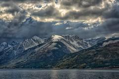 Beam of Light (Philip Kuntz) Tags: light clouds storm beamoflight jacksonlake tetons tetonnationalpark wyoming lightrays rays