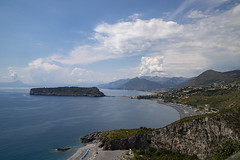 Dino Island from San Nicola Arcella (Michelle Doyle) Tags: calabria italy san nicola arcella dino island isola sun blue sea sky mountain 6dmkii