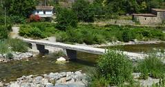 """Mialet (Gard), passerelle sur le gardon de Saint-Jean, juste après le """"barrage"""" (gunger30) Tags: mialet gard cévennes languedocroussillon occitanie france 2018 rivière gardon gardondesaintjean panorama passerelle"""