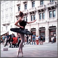 Black swan_Rolleiflex 3.5B (ksadjina) Tags: 6x6 ballerina c41 carlzeisstessar35 italy kodakektar100 krecetova nikonsupercoolscan9000ed rolleiflex35b silverfast trieste analog dancer film scan summer