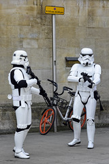 UK - Oxford - Comic Con 2018 - Stormtroopers 02_DSC1318 (Darrell Godliman) Tags: ukoxfordcomiccon2018stormtroopers02dsc1318 parkingrestrictions bike stormtrooper stormtroopers starwars ukgarrison 501stukgarrison scifi sciencefiction cosplay cosplayer costume oxcon2018 oxfordcomiccon examinationschools oxford oxfordshire oxon ©dgodliman darrellgodliman wwwdgphotoscouk dgphotos allrightsreserved copyright travel tourism europe eu britishisles unitedkingdom uk greatbritain gb britain england omot flickrelite instantfave nikond7200 nikon d7200