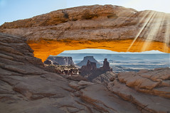Sunrise over Mesa Arch (My Americana) Tags: canyonlandsnationalpark canyonlands nationalpark isleinthesky mesaarch canyon np utah nikon sunrise
