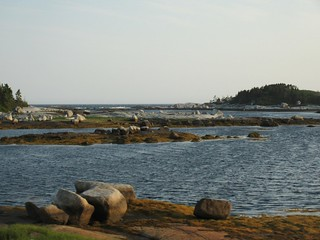 Rocks and view to the ocean, Peggy's Cove Soi, Nova Scotia