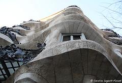Barcelona - Dust Pillar (Caroline Forest Images) Tags: spain barcelona catalunya travel europe city cityscape architecture passeigdegracia gaudi antoniogaudi lapedrera casamilà