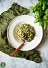 White buckwheat risotto with green peas and basil / Kaszotto z niepalonej kaszy gryczanej z zielonym groszkiem i bazylią (foodpornveganstyle) Tags: risotto buckwheat dinner vegan vegetarian veganfood veganfoodporn vegetables greenpeas basil kasza kaszagryczana zielonygroszek bazylia obiad bezglutenowe glutenfree