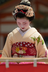 dressed (byzanceblue) Tags: 京都 gion maiko japan kyoto japanese dance woman girl female cute lovely beautiful beauty 舞妓 舞踊 geisha kimono traditional geiko kanzashi formal 祇園 black 花街 white color colour flower nikkor background people photo d850 portrait professional lady lovery 芸妓 着物 bokeh 節分 red traditonal 平安神宮 奉納舞 姫三社 祇園小唄 tomoko nishimura 西村 祇園甲部