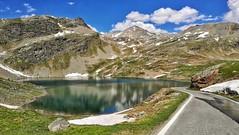 Col del Nivolet (sneno75) Tags: montagna estate summer colori lago lake colors snow neve sky clouds