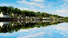 Reflecting Plockton (Tom McPherson) Tags: prime 35mm fuji ngc scotland river sea landscape town village houses street water plockton reflections