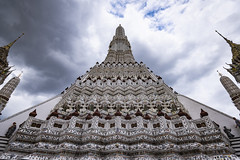 Wat Arun - The Temple of Dawn (Flutechill) Tags: architecture asia buddhism famousplace templebuilding staircase ancient wat cultures thailand buddha history religion stonematerial spirituality pagoda travel old stupa outdoors
