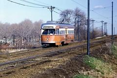 MBTA PCC 3212 CedarGroveCemetery Dec1971 (ironmike9) Tags: bostonma trolley tram streetcar pcc transit publictransit mbta cemetery