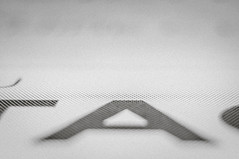 A as Abstract (nkpl) Tags: a abstract alphabet lettre letter point noiretblanc blackandwhite perforation flèche arrow