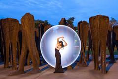 Mystical at Agora (1) (jeff_a_goldberg) Tags: night portrait kimhenry lightpainting ericparé outofchicago grantpark model agora chicago summer illinois unitedstates us streetphotography street streetfashion streetart