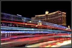 JustACorner (VegasBnR) Tags: nikon nevada night neon lasvegas lasvegasblvd lvbv strip balagio flamingo cosmopolitan vegas vegasbnr vacation vegas1 street lighttrails lights usa 702 7200 challengegamewinner
