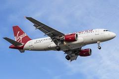 Virgin America (Alaska Airlines) · Airbus A319-112 · N530VA (cn 3686) · KBOS 4/24/18 (Micheal Wass) Tags: vx vrd virginamerica airbus a319 airbusa319 a319100 airbusa319100 a319112 airbusa319112 n530va