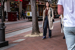 San Francisco 2018 (burnt dirt) Tags: sanfrancisco california vacation town city street road sidewalk crossing streetcar cablecar tree building store restaurant people person girl woman man couple group lovers friends family holdinghands candid documentary streetphotography turnaround portrait fujifilm xt1 color laugh smile young old asian latina white european europe korean chinese thai dress skirt denim shorts boots heels leather tights leggings yogapants shorthair longhair cellphone glasses sunglasses blonde brunette redhead tattoo pretty beautiful selfie fashion japanese brown blue tracks bag