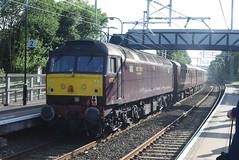 WCRC 47832 @ Rugeley Town station (ianjpoole) Tags: west coast railway company class 47 spoon 47832 rear railways 1z35 the jorvik scarborough spa express 2 from kidderminster