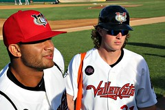 VALLEYCAT DUO (MIKECNY) Tags: baseball minorleague nypennleague tricityvalleycats astros teammates duo
