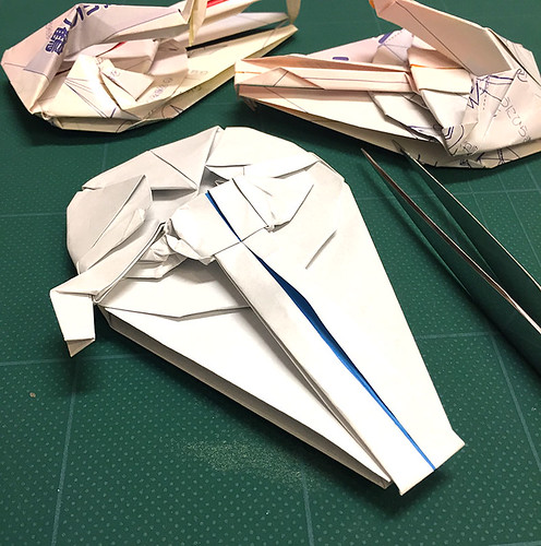 Millennium Falcon origami diagram 3   If you finished to fol…   Flickr   500x496