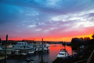 Sunset last night on Hayden Island