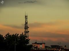 After the storm and before the night. Milano (diegoavanzi) Tags: milano milan italia italy lombardia lombardy cielo sky sera evening tramonto sunset sundown nuvole clouds sony hx300 bridge antenne