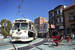 MUNI 1056 at Castro (Justin Franz) Tags: 2020msrcalendar sanfrancisco streetcar