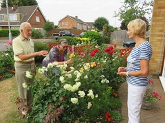 180718 South Wigston, Leics - Tony, Jane & Carol admiring the roses (Gary Danvers Collection) Tags: england leicester