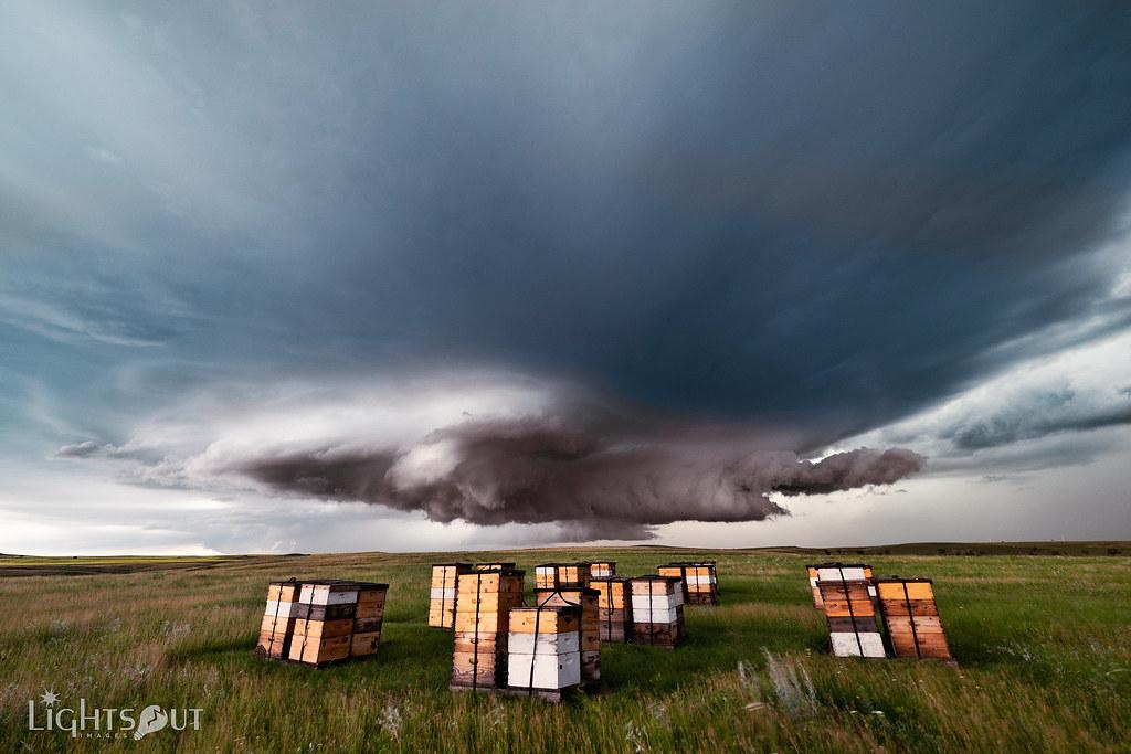 Beehive Storm (Lights Out Images) Tags: Farm Storm Capturenorthdakota  Northdakota Onlyinnorthdakota Northdakotathroughthelens  Northdakotaphotographer