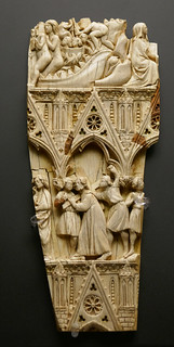 Ivory fragment of a diptych leaf - scenes from the Passion of Christ - Paris or Île de France, 3rd quarter 13th Century