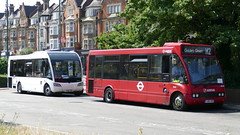 Loaners (londonbusexplorer) Tags: metroline travel optare solo sr os68 yj06yrp yj67gek h2 h3 golders green east finchley tfl london buses