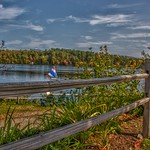 Lake Placid  - New York - Sail Boat - Old Fence thumbnail