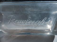 Rawleigh's (Steve Taylor (Photography)) Tags: rawleighs bottle antique old blue glass newzealand nz southisland canterbury christchurch northnewbrighton sunny sunshine