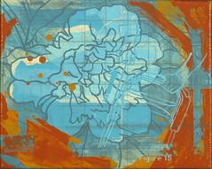 Peony Lawn Mower (Marc Bosworth) Tags: marcbosworth artist wichita kansas painting mixedmedia acrylic foundobjects collage printmaking lino linoleumblock reliefprinting collagraph screenprint