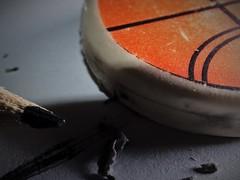 Eternal battle (qp1977) Tags: macromondays macro erasers eraser pencil olympus nissini40