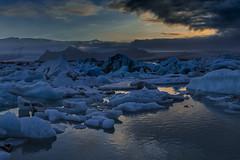 dark clouds (hph46) Tags: island jökulsárlón lagune austurland iceland glacier sunset icebergs sony alpha6500 canonef2470mm14lisusm