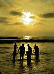 Circle of Life, Nature appreciation (moonjazz) Tags: family friends together beach california sharing ocean travel light sunset best emotions gold love sandiego water sky art photography hands bonding moonjazz bright inspire people life wisdom day special circle heaven time children