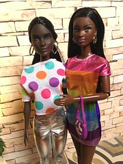 Showing her the ropes (Bob in NY) Tags: 'bob'throwseveryoneoff yesiamablackgirlwoman blackgirldolls aa soinstyle fashionista mattel