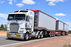 Kenworth K200 - AB Triple (Bourney123) Tags: kenworth k200 loaded cobar interstate highway haulage bourke tipper diesel outback truck trucks trucking
