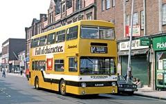 Stevensons, Uttoxeter: 88 (OJD229R) in Station Street, Burton on Trent (Mega Anorak) Tags: bus leyland fleetline fe30agr mcw dms stevensonsuttoxeter londontransport burtonontrent