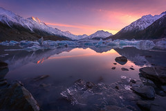 Tasman Reflections (inkasinclair) Tags: sunrise mount cook tasman lake glacier reflection mountains ice landscape new zealand south island