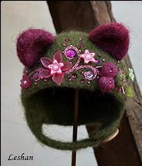 """New """"Kitty Helmet"""" for Neo Blythe.(GONE) (Leshan1) Tags: leshan leshancrochet leshanhelmet leshanhat leshanblythe helmet hat crochet blythe blythehelmet blythehat felted feltedhat kitty kittyhelmet"""