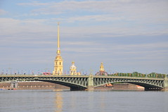 Peter And Paul Cathedral (Ryan Hadley) Tags: peterandpaulcathedral cathedral church spire peterandpaulfortress trinitybridge bridge rivercruise cruise nevariver river stpetersburg russia europe worldheritagesite