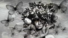 Bugs (tralala.loordes) Tags: lode flowers headpiece crown nature peopny peony rose hibiscus lily valley tralalaloordes tralala butterflies cabbagerose zibska headaccessory valleywreath