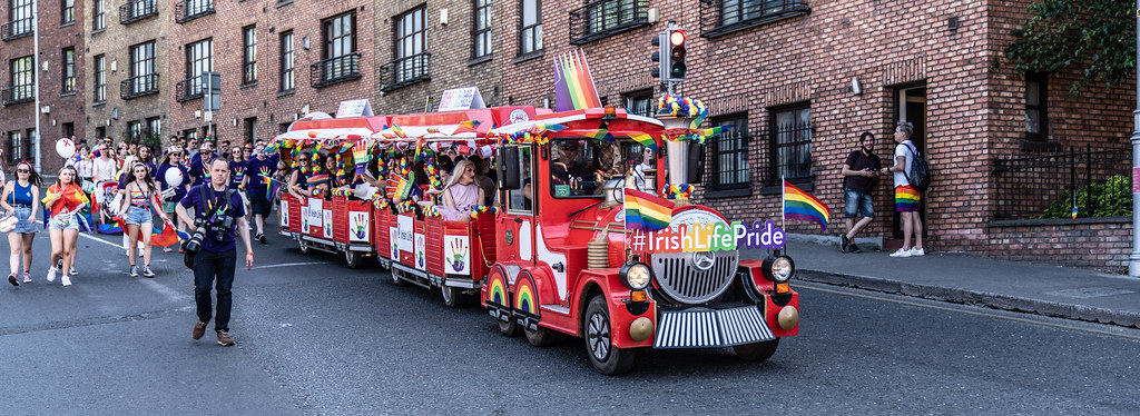 ABOUT SIXTY THOUSAND TOOK PART IN THE DUBLIN LGBTI+ PARADE TODAY[ SATURDAY 30 JUNE 2018] X-100276