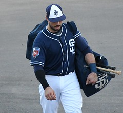 Austin Hedges (jkstrapme 2) Tags: baseball jock cup bulge crotch