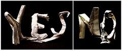 ORIGAMI - YES/NO Perception!! (Neelesh K) Tags: origami perception perspective illusion art box pleating yes no neeleshk paper folding 32 grids markus raetz