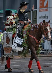 Ride Wave & Smile (Scott 97006) Tags: horse rider ride parade costume wave smile pretty beauty flowers